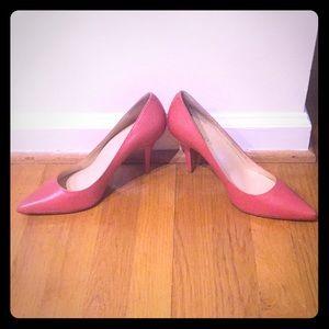 Talbots Pink Leather Stilettos, Sz 9
